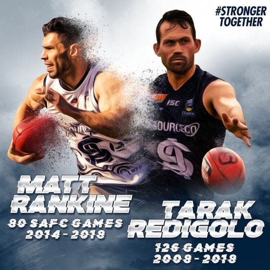 Redigolo and Rankine call time on SANFL careers