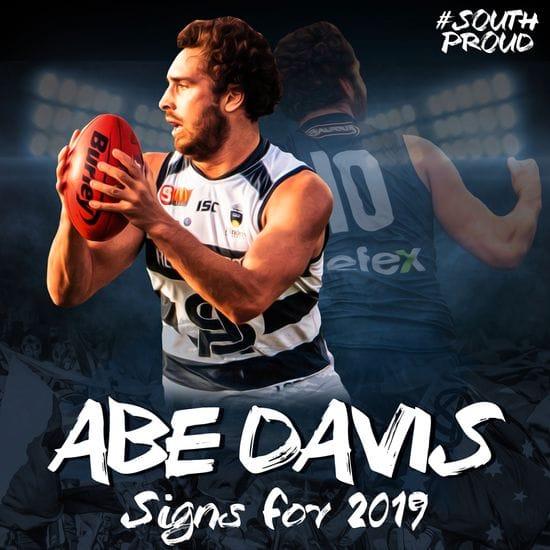 Abe Davis signs for season 2019