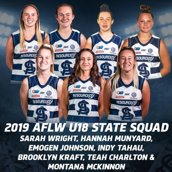 Seven Panthers Selected in AFLW U18 Championships Squad
