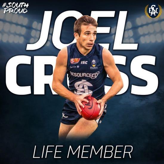 Joel Cross inducted as a Life Member