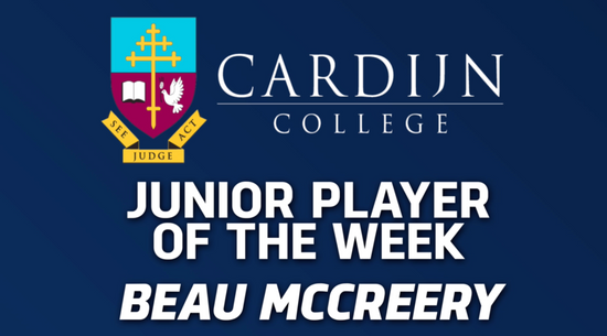 Panthers TV: Cardijn College Junior Player of the Week - Beau McCreery