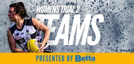 Betta Teams: SANFLW Trial 2 - South Adelaide vs Sturt