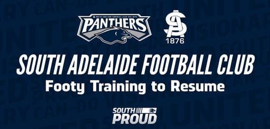 Footy Training Set to Resume in SA