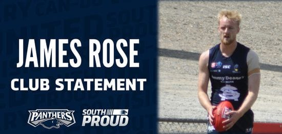 Club Statement: James Rose