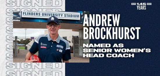 Andrew Brockhurst Named South Adelaide Senior Women's Coach