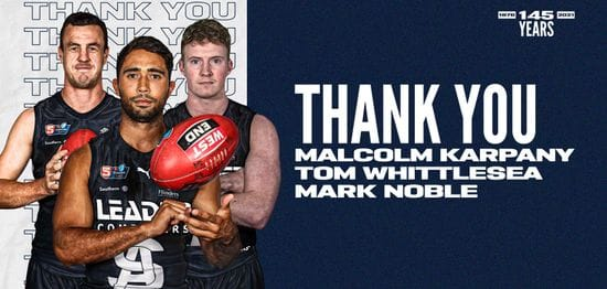 Thank You: Malcolm Karpany, Tom Whittlesea and Mark Noble