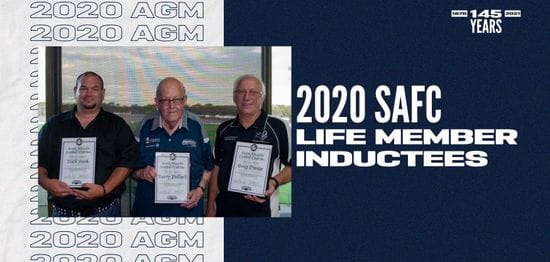 2020 SAFC AGM - Life Memberships and Service Merit Certificates