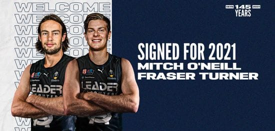 Mitch O'Neill and Fraser Turner become Panthers