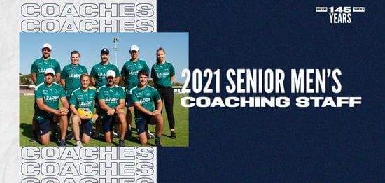 2021 Senior Mens coaching staff