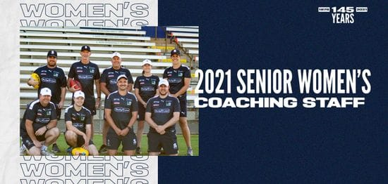 2021 Senior Women's Coaching Staff