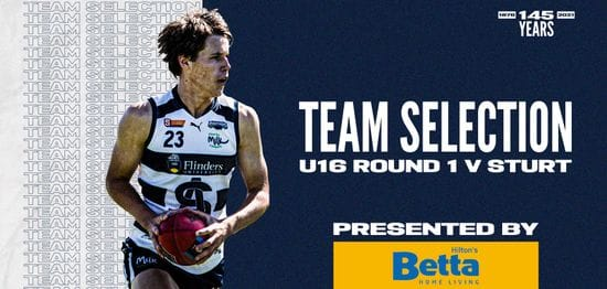 BETTA Team Selection: Under-16 Round 1 vs Sturt