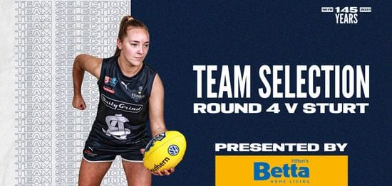 BETTA Team Selection: SANFLW Round 4 vs Sturt