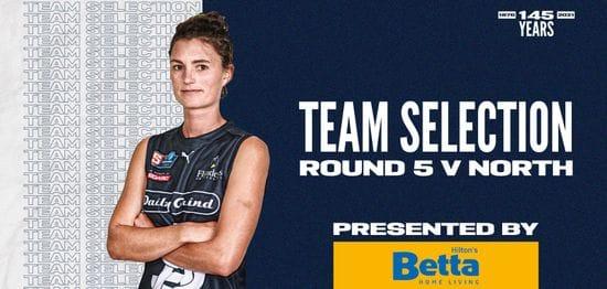 BETTA Team Selection: SANFLW Round 5 vs North