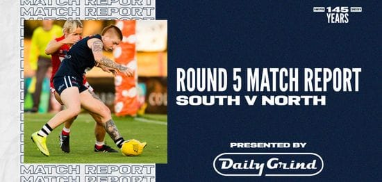 Daily Grind Women's Match Report: Round 5 vs North Adelaide
