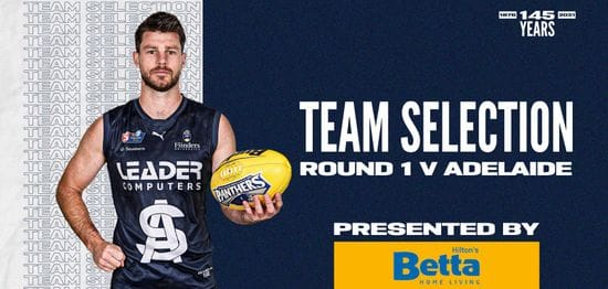 BETTA Squad Selection: Round 1 vs Adelaide