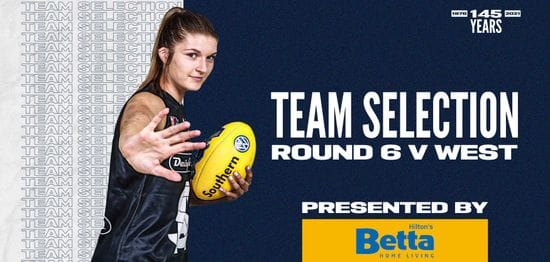 BETTA Team Selection: SANFLW Round 6 vs West Adelaide