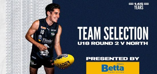 BETTA Team Selection: Under-18 Round 2 vs North Adelaide