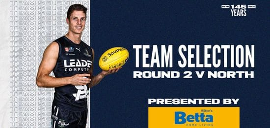 BETTA Teams Selection: Round 2 vs North Adelaide