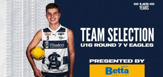 BETTA Team Selection: Under-16 Round 7 vs Eagles