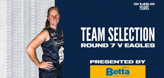 BETTA Team Selection: SANFLW Round 7 vs Eagles