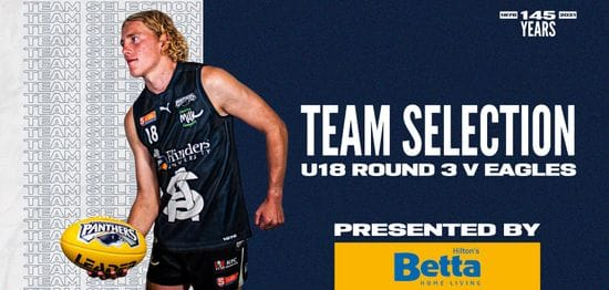BETTA Team Selection: Under-18 Round 3 vs Eagles
