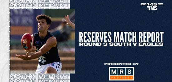 MRS Property Reserves Match Report Round 3: vs Eagles
