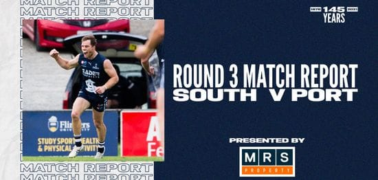MRS Property Match Report Round 3: vs Port Adelaide