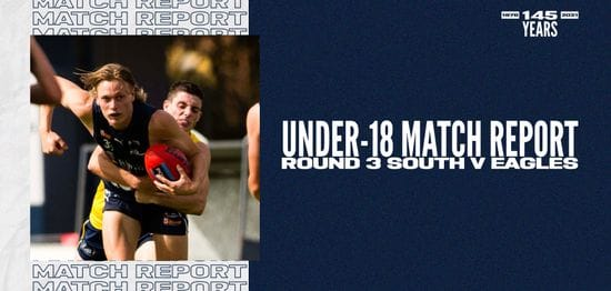 Under-18 Match Report: Round 3 vs Eagles