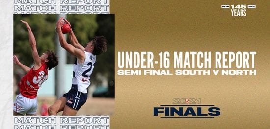Under-16 Match Report: Semi Final 1 vs North Adelaide