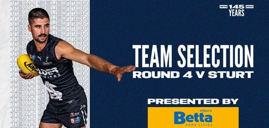 BETTA Teams Selection: Round 4 vs Sturt