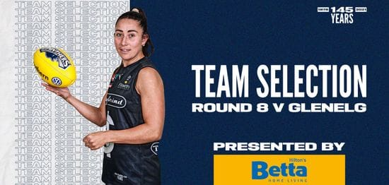 BETTA Team Selection: SANFLW Round 8 vs Glenelg