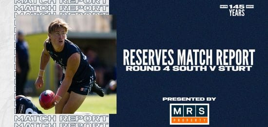 MRS Property Reserves Match Report Round 4: vs Sturt