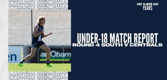 Under-18 Match Report: Round 4 vs Centrals