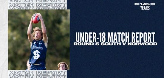 Under-18 Match Report: Round 5 vs Norwood