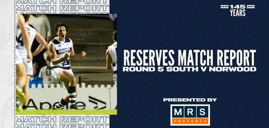 MRS Property Reserves Match Report Round 5: vs Norwood