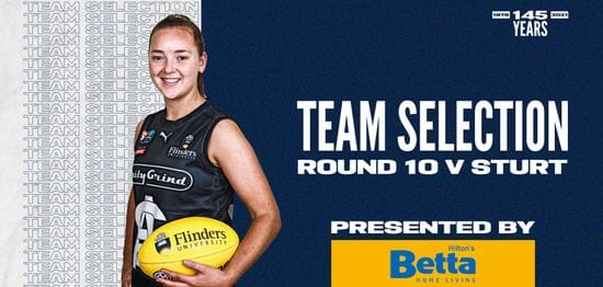 BETTA Team Selection: SANFLW Round 10 vs Sturt