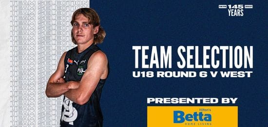 BETTA Team Selection: Under-18 Round 6 vs West Adelaide