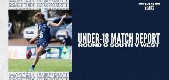 Under-18 Match Report: Round 6 vs West Adelaide