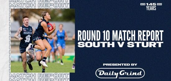 Daily Grind Women's Match Report: Round 10 vs Sturt