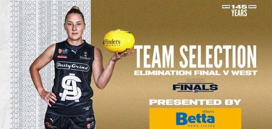BETTA Team Selection: SANFLW Elimination Final vs West Adelaide