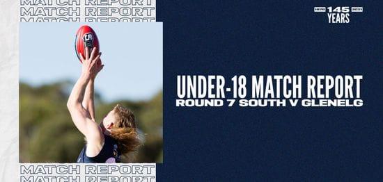Under-18 Match Report: Round 7 vs Glenelg