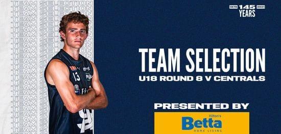 BETTA Team Selection: Under-18 Round 8 vs Centrals