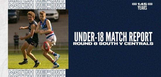 Under-18 Match Report: Round 8 vs Central District