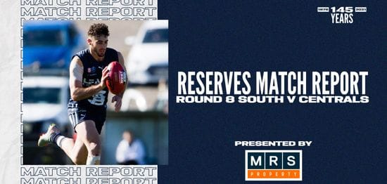 MRS Property Reserves Match Report Round 8: vs Central District