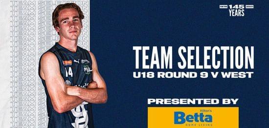 BETTA Team Selection: Under-18 Round 9 vs West
