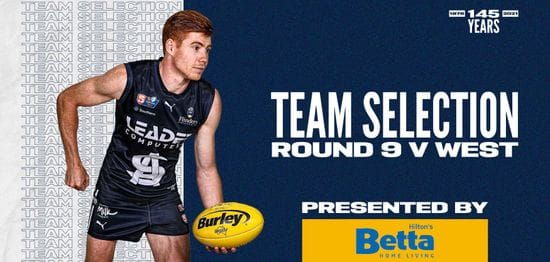 BETTA Teams Selection: Round 9 vs West Adelaide
