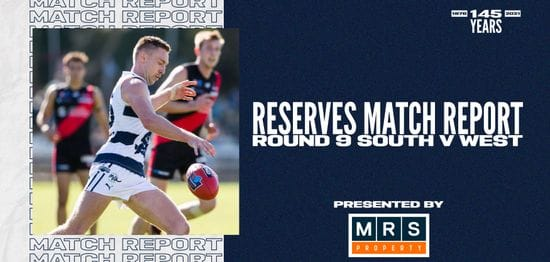 MRS Property Reserves Match Report Round 9: vs West Adelaide