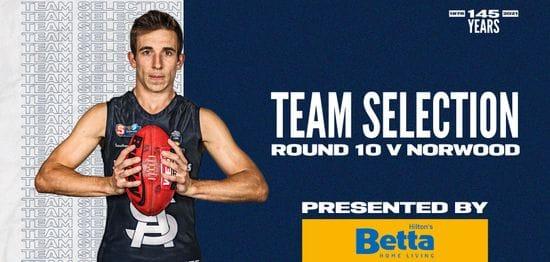 BETTA Teams Selection: Round 10 vs Norwood