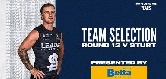 BETTA Teams Selection: Round 11 @ Sturt