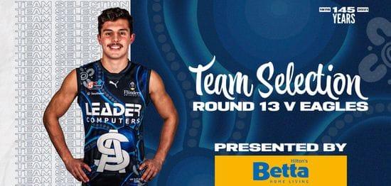 BETTA Teams Selection: Round 13 v Eagles